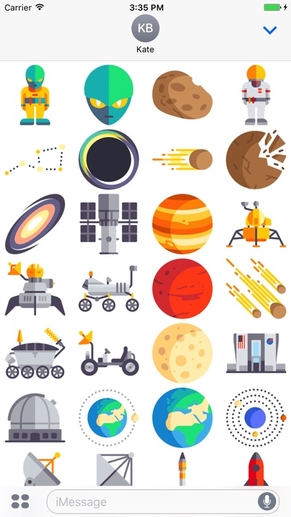 Space Stickers - Astronomy Emoji For Messages