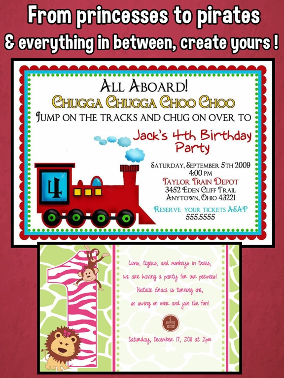 Screenshot 4 For Happy Birthday Invitations Kids Party
