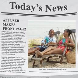Photo in Newspaper