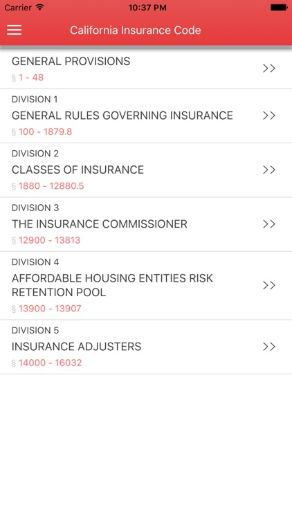California Insurance Code screenshot-0
