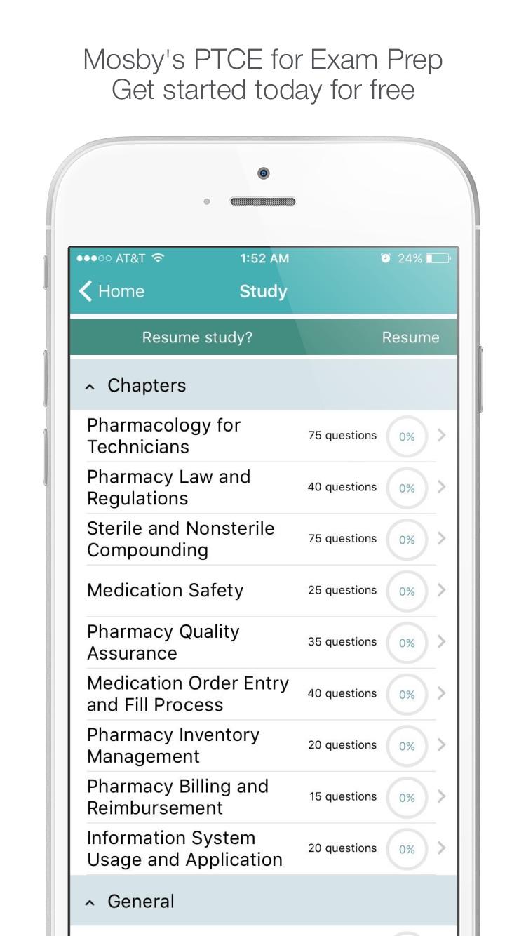 PTCB - Mosby's Pharmacy Technician Exam Prep 2017 Screenshot