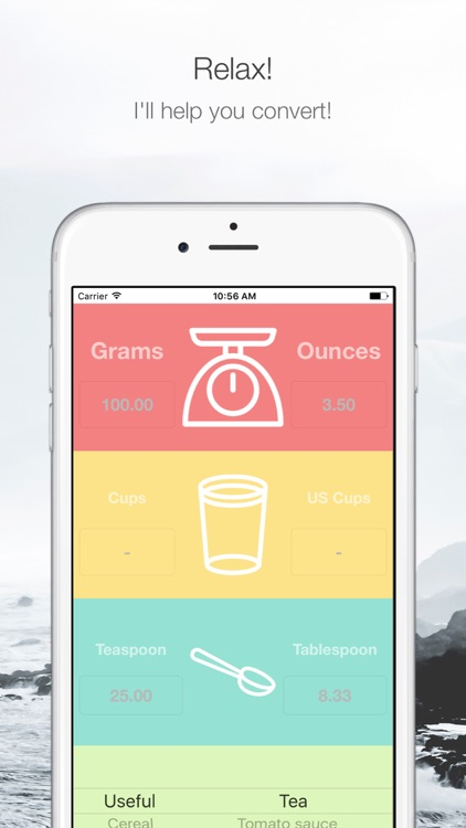 Convert grams and ounces to cups and spoons