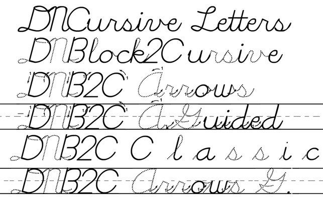 DN Cursive Fonts On The Mac App Store