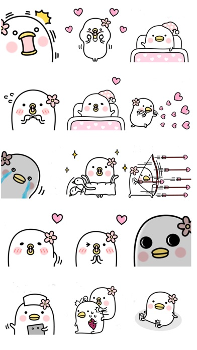 Cheerful cute bird - New Stickers!! app image