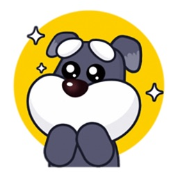 Little Schnauzer - Cute stickers for iMessage