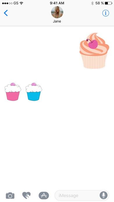 蛋糕貼紙包!屏幕截圖2