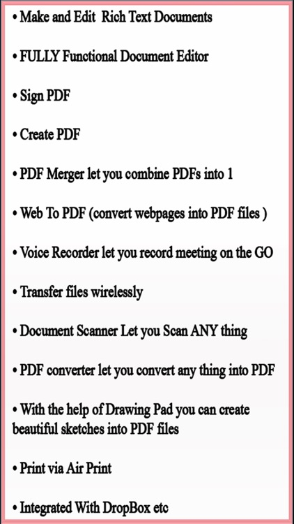 Write Document for Microsoft