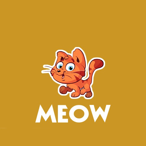 MEOW - funny cat stickers