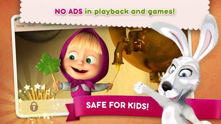 Masha and the Bear: videos, games, songs for kids screenshot-4