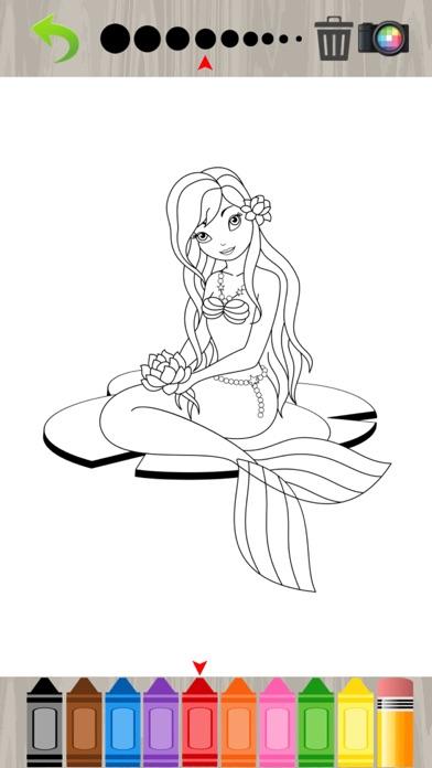 Princesa sirena para colorear libro para niños 1.0.0 para iOS ...