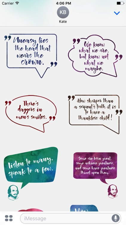 William Shakespeare's Quotes for iMessage Stickers screenshot-3