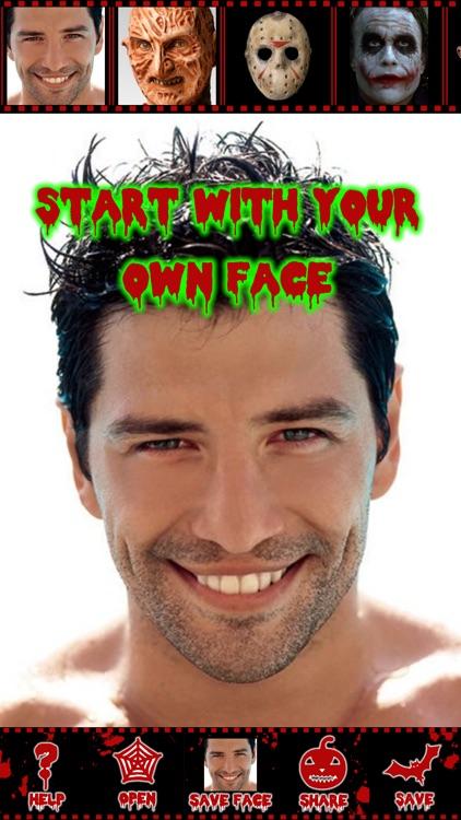 Scary Face Maker Swap Editor Screenshot 2