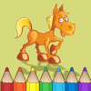 Coloring Book of Horses for Kids: Learn to color