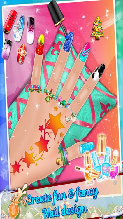Christmas Nail Salon - Girls game for Xmas screenshot-2