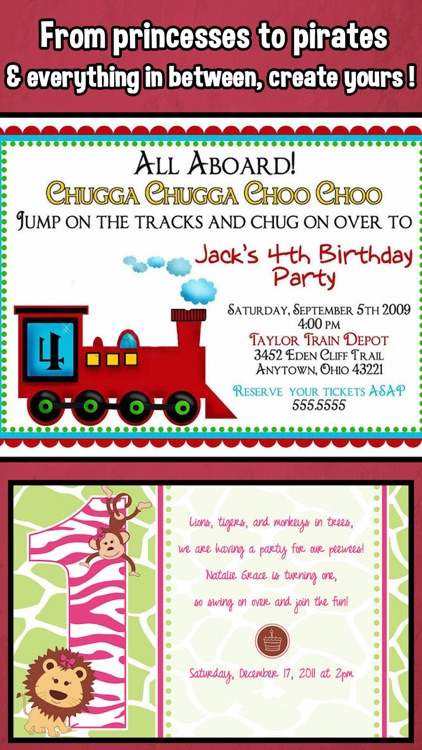 Happy Birthday Invitations For Kids Party Screenshot 3