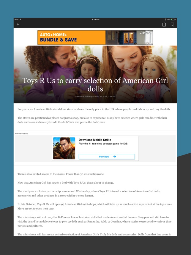 San Diego Union Tribune On The App Store - Free invoice templates pdf american girl doll store online