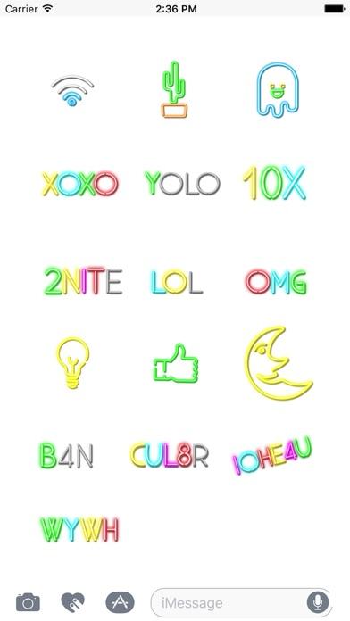 Neon Animated Stickers screenshot three
