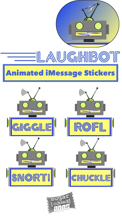 LaughBot: Animated Robot Stickers screenshot-0