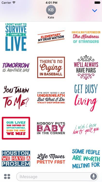 Movie Quote Stickers