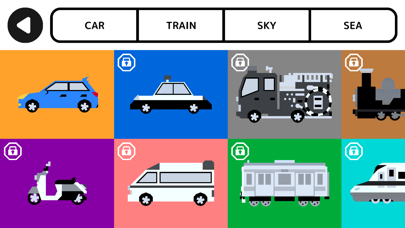 The Vehicles Typing Screenshot on iOS