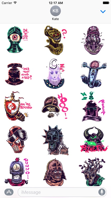 Knight Time Stickers