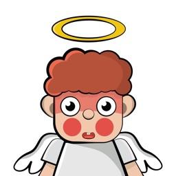Cupid God - Angel in Heaven Stickers
