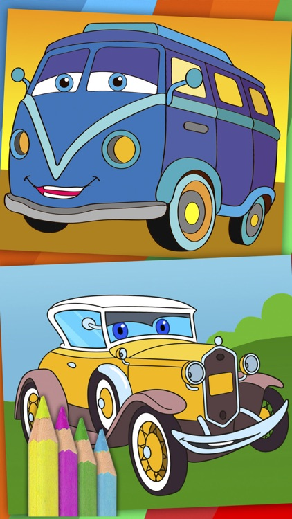 Cars coloring pages for kids – magic coloring book screenshot-4