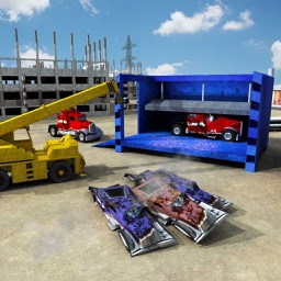 Monster Truck Crusher Crane Driving Simulator 3D