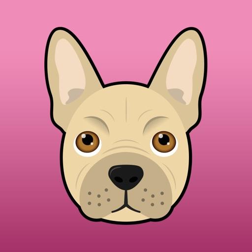 FrenchieMoji: French Bulldog Emojis