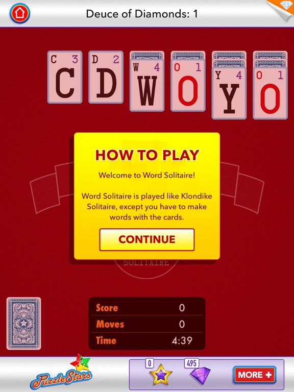 Screenshot #3 for Word Solitaire by PuzzleStars
