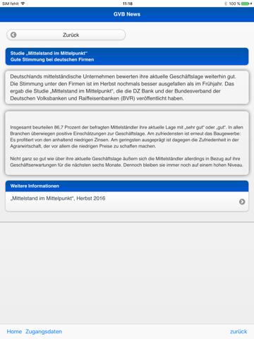 Screenshot of GVB Nachrichten