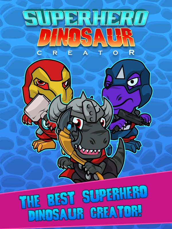 Amazing Comic SuperHero Dino T-Rex Creator - Online Game