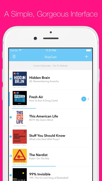 SkipCast: Podcast Player