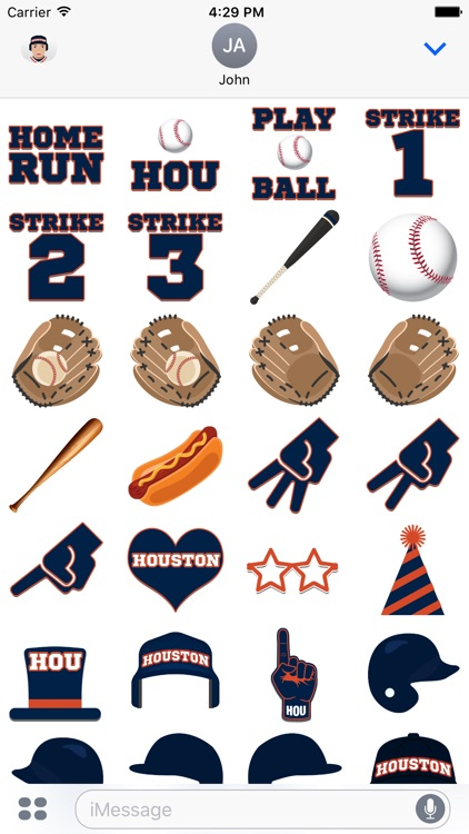 Houston Baseball Emojis & Stickers screenshot-3