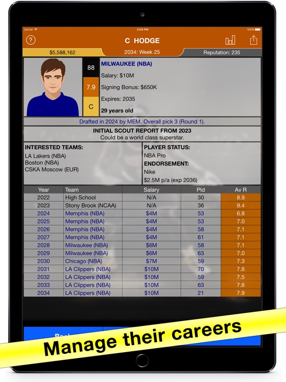 Basketball Agent: Manager Sim by Steven Nicola