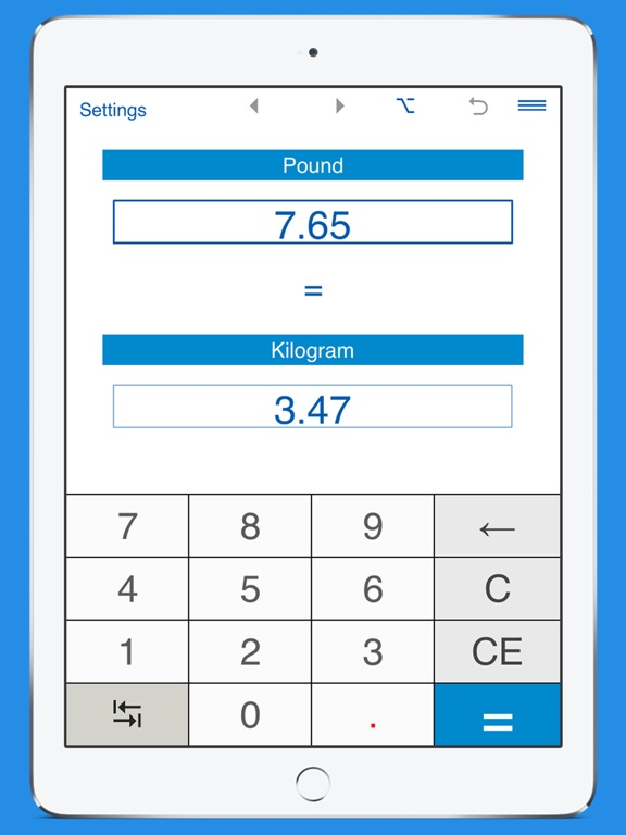 Screenshot 1 For Pounds To Kilograms And Kg Lb Weight Converter