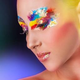 Face Paint Art Photo Montage