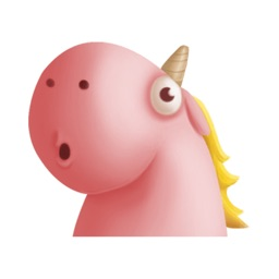 Pinky Fat 3d Unicorn Stickers