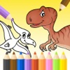 Dinosaurs Coloring Page For Preschool and Toddlers