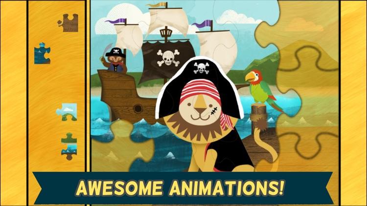 Pirate Preschool Puzzle - Fun Toddler Games screenshot-3