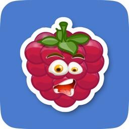 Animated Raspberry Emoji