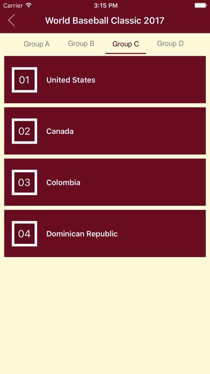Schedule of WBC 2017 screenshot-3