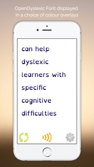 Dyslexics Using Iphone As Reading Aid >> Easy Dyslexia Aid Dyslexic Dysgraphia Support