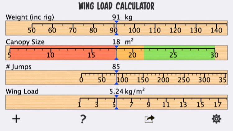 Skydive Wingload Calculator screenshot-3