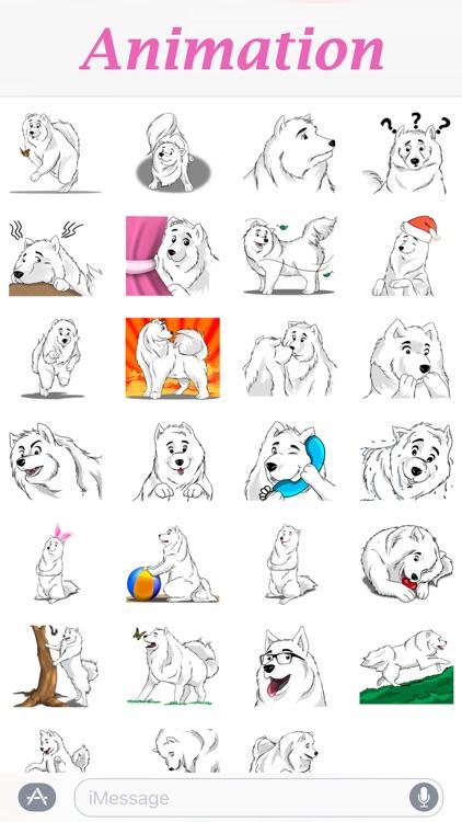 Husky Dog - Cute snow dog for iMessage screenshot-3