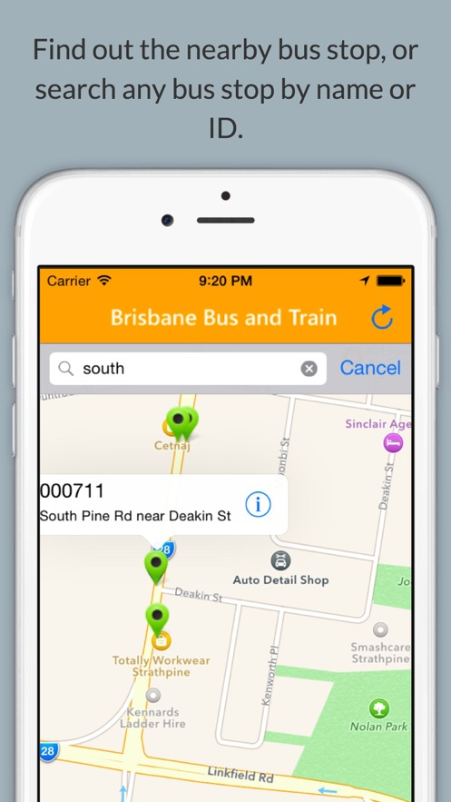 Brisbane Bus and Train App 截图
