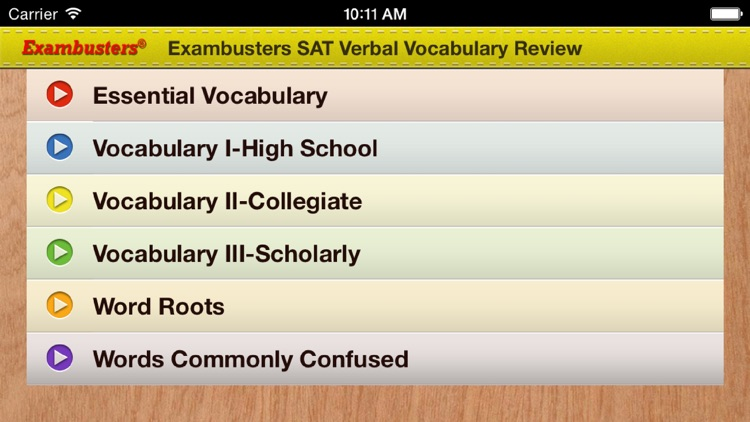 SAT Prep Verbal Flashcards Vocabulary Exambusters screenshot-3