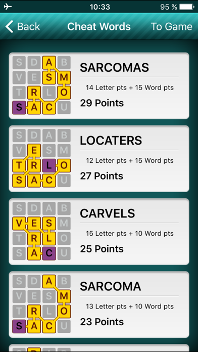 EZ Words Finder - cheat for Word Streak game by RedSpell