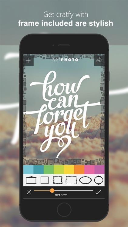 Art Photos - Cool Smart Photo Editor & Collage Pro screenshot-3