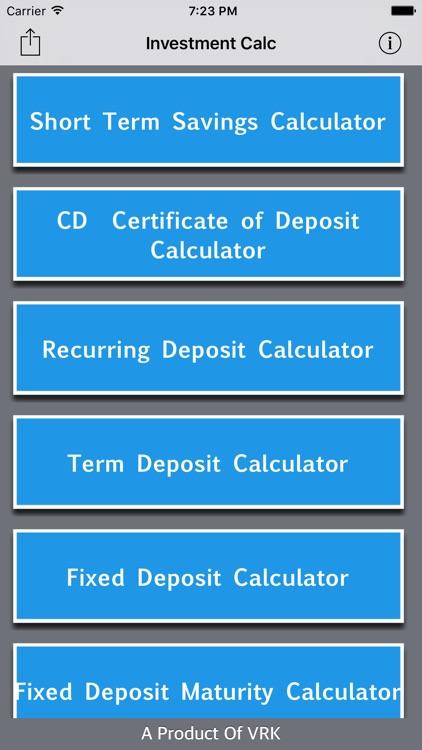 Investment Calc